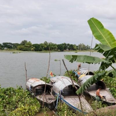 Les barques au Delta du Mékong Vietnam