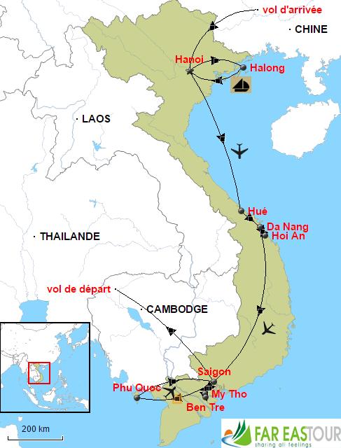 Carte-Circuit lune de miel Vietnam 12 jours