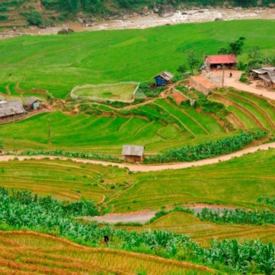 Le paysage pittoresque au village Cat Cat à Sapa Vietnam