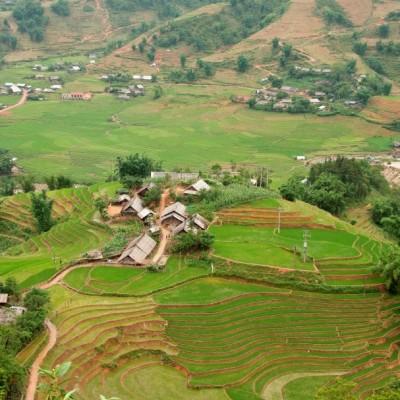 Le paysage pittoresque au village de Lao Chai, Sapa Vietnam