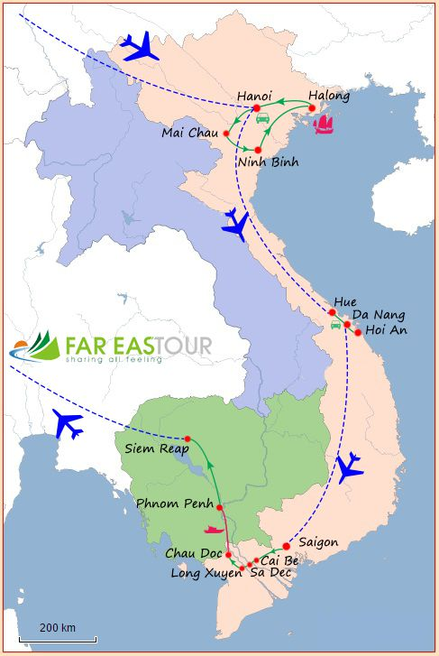 Voyage au Vietnam et au Cambodge – 16 jours - agence de voyage locale au vietnam
