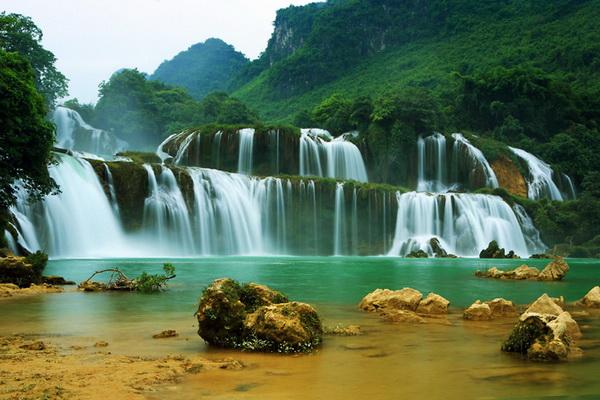 Chutes d'eau Ban Gioc, Cao Bang Vietnam