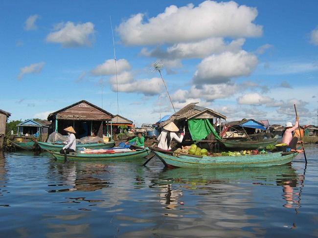 Le lac Tonlé Sap à Siem Reap