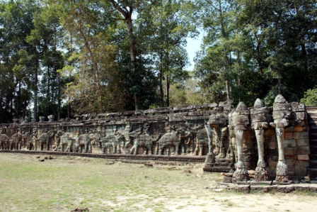 Angkor Thom - terrasse des elephants
