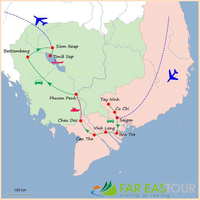 voyage vietnam du sud et cambodge 2 semaine - agence de voyage locale vietnam far east tour