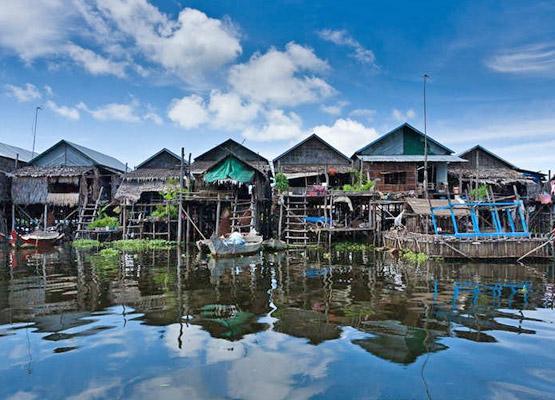Village flottant Kampong Phluk à Tonlé Sap