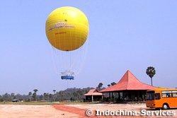Visite au ballon au-dessus d'Angkor Wat