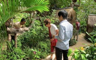 centre de papillon Banteay Sreay, Siem Reap, Cambodge