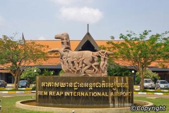 L'aéroport international à Siem Reap