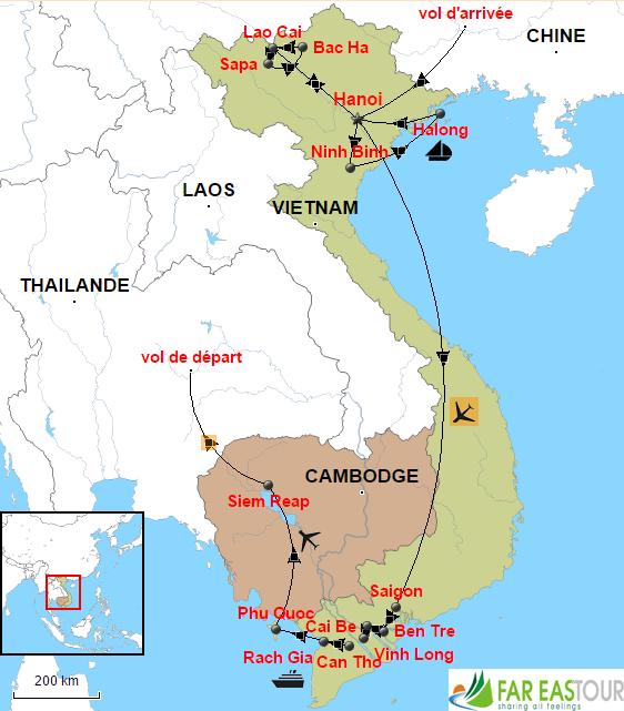 Voyage Vietnam Angkor à la route moins fréquentée
