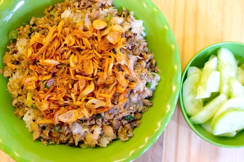 Le riz gluant à l'anabas du champ