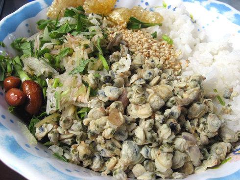 Le riz au corbicula