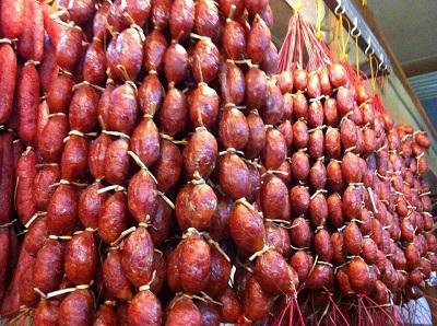 Les saucisses de bœuf du Cambodge