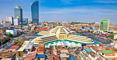 Marché central Phnom Penh au Cambodge