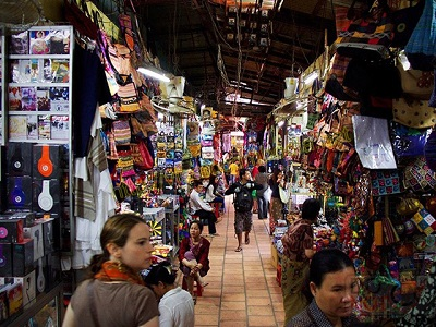 marché russien au cambodge