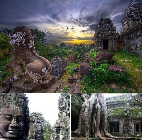 Les vestiges d'Angkor Wat