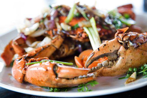 Crabe frit avec du poivre noir - Spécialités du Cambodge
