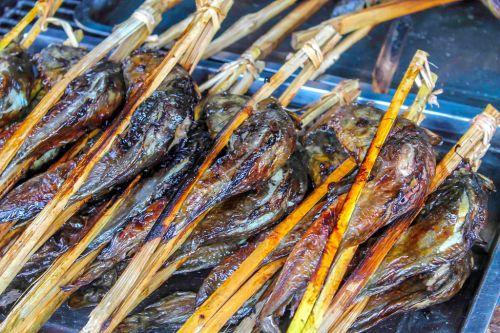 Plats grillés - Spécialités du Cambodge