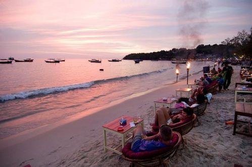 Mer nuit - Quartier côtier - Voyage Cambodge