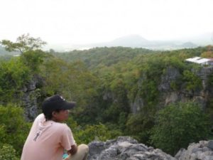 Battambang Vue de Phnom Sampeu - Voyage Cambodge